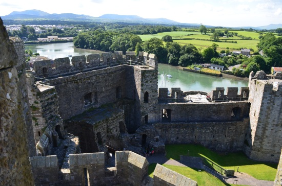 Wales has more castles per square mile than any other area. This was taken at Caernarfon Castle, the seat of the Prince of Wales.