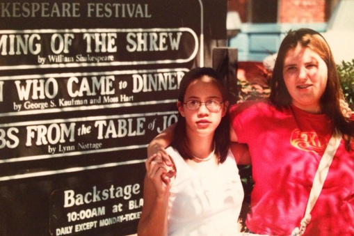 At the Oregon Shakespeare Festival in Ashland, circa 8th grade