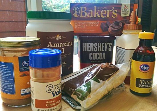 amazeballs ingredients almond butter cinnamon cocoa
