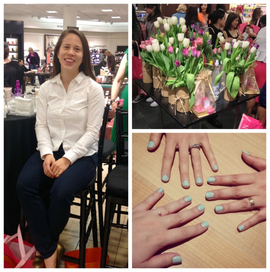 Manicures and makeovers at the Nordstrom Spring Beauty Trend Show