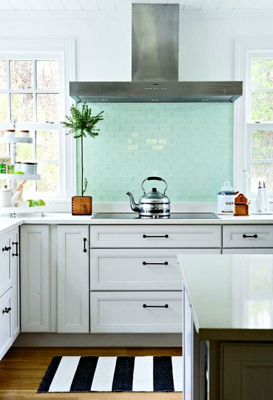 Mint backsplash