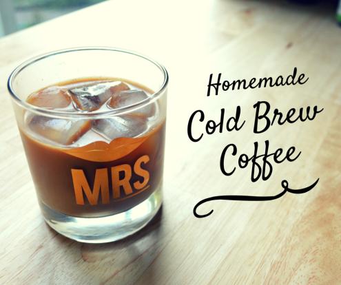 DIY homemade cold brew coffee