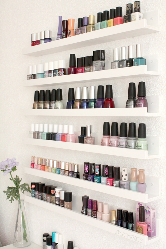 6 DIY Ideas for Beauty Storage // via South by Northwest