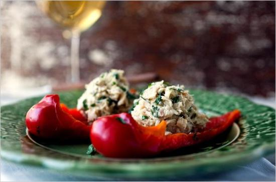 tuna and pepper
