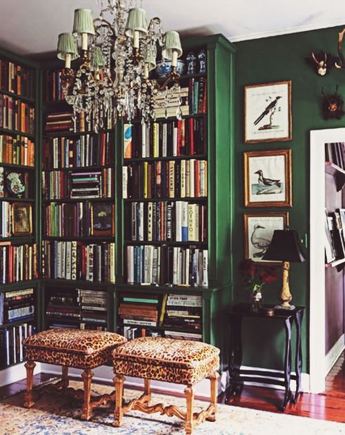 Emerald green library