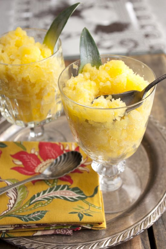 Pineapple mango granita