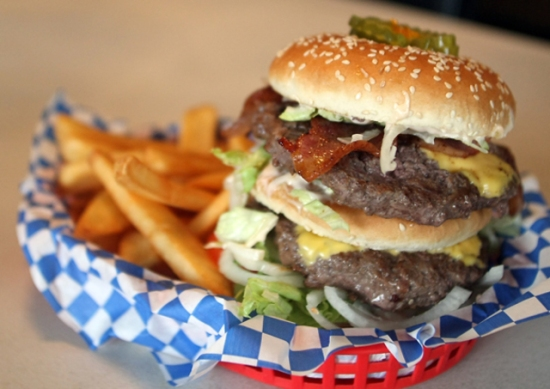 Fat Smitty Burger at Fat Smitty's restaurant in Discovery Bay. (MEEGAN M. REID/KITSAP SUN)