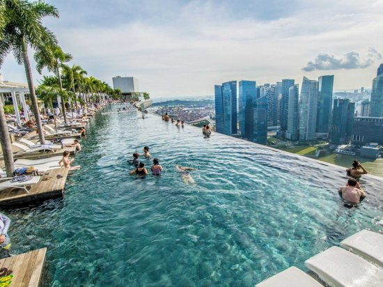 Spectacular Pools Around the World: Marina Bay Sands Hotel, Singapore