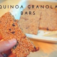 Quinoa Granola Bars (Low FODMAP Friendly)