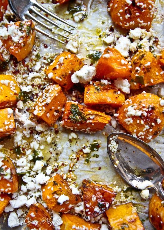8 Pumpkin Recipes // Roasted Pumpkin with Feta and Honey
