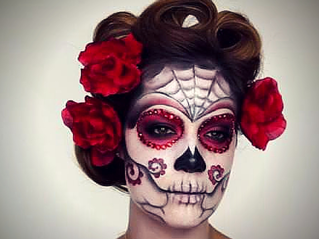 halloween makeup tutorial - Halloween Day Of The Dead Face Paint