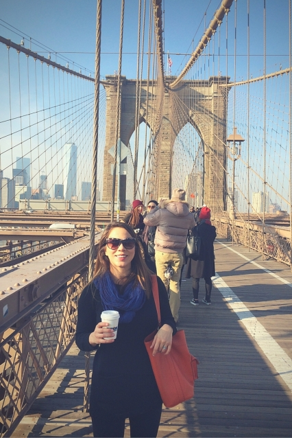 Brooklyn Bridge New York City at Christmas