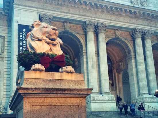 Christmas in New York City at New York Library