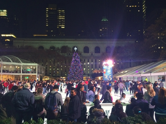 Christmas in New York City at Bryant Park