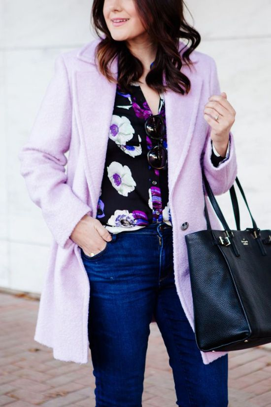 Lilac coat via Kendi Everyday