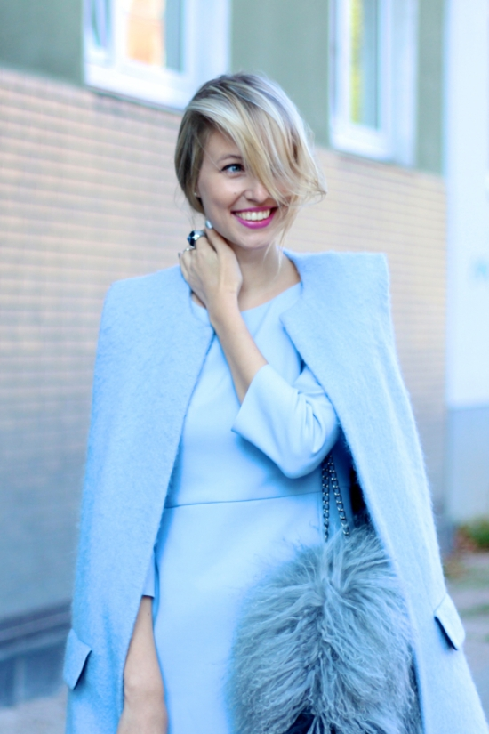 Pastel blue coat via Ohh Couture