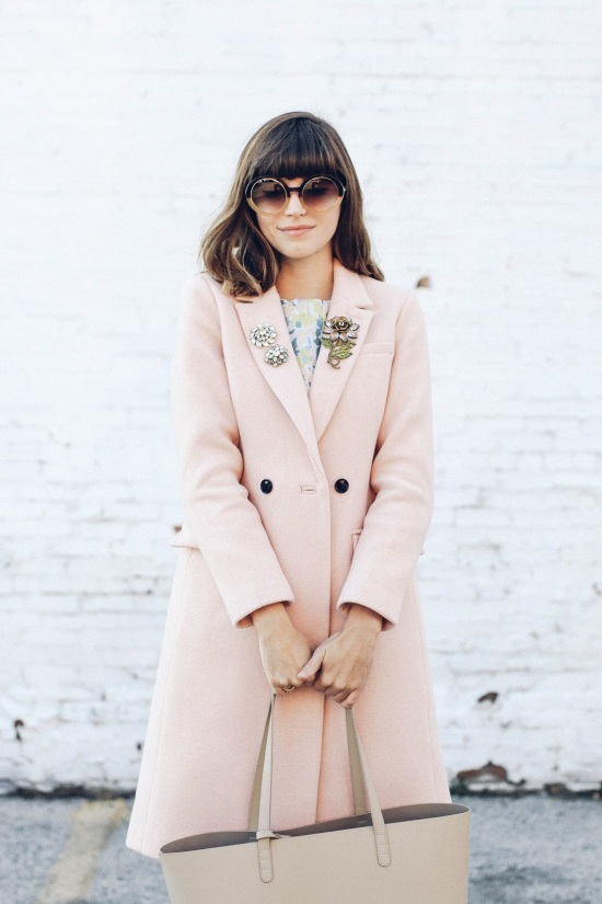 Pale pink coat via Emilee Anne