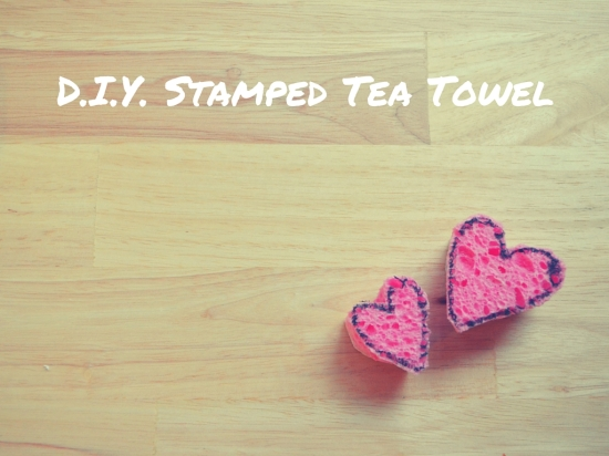 Valentine's Day DIY Stamped Tea Towel Craft