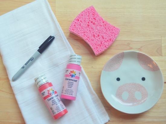 Valentine's Day DIY Stamped Tea Towel Craft