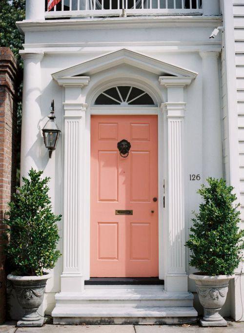 Coral front door