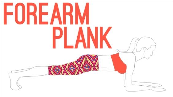 forearm plank yoga pose