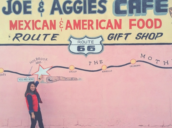 Joe and Aggies Arizona Route 66 All american road