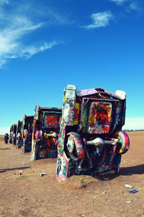 Cadillac Ranch Amarillo Texas All american road trip destinations route 66 travel