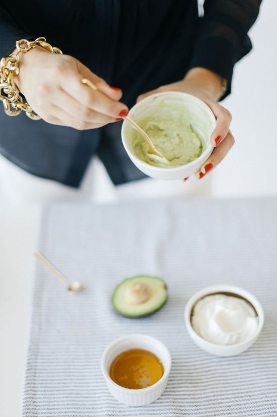 DIY Avocado & Honey Face Mask via The Everygirl