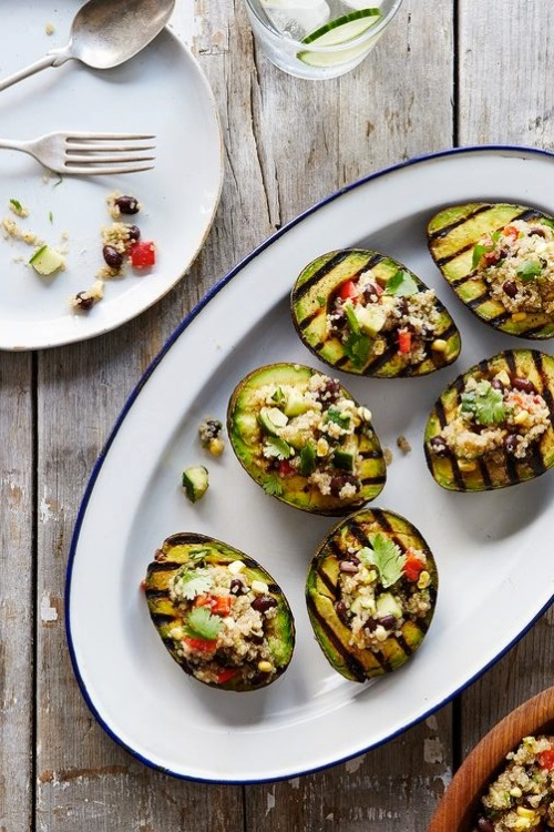 Grilled Stuffed Avocado Halves via Food52