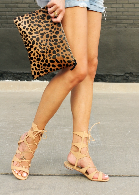 The perfect nude lace-up sandals