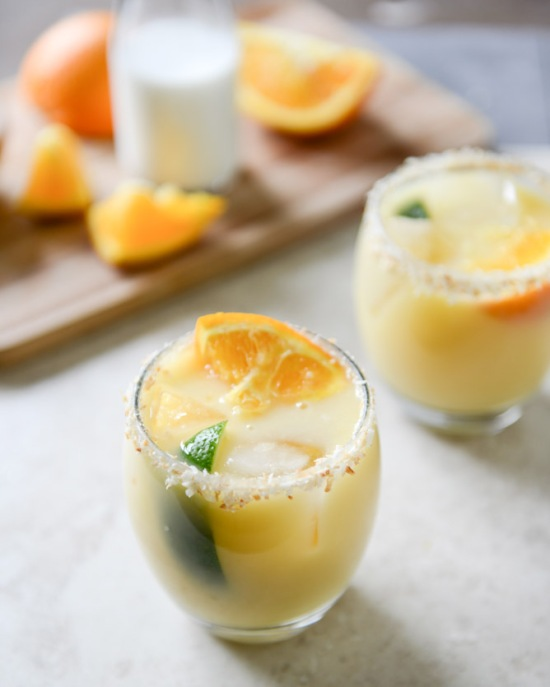Coconut Creamsicle Margarita via How Sweet It Is