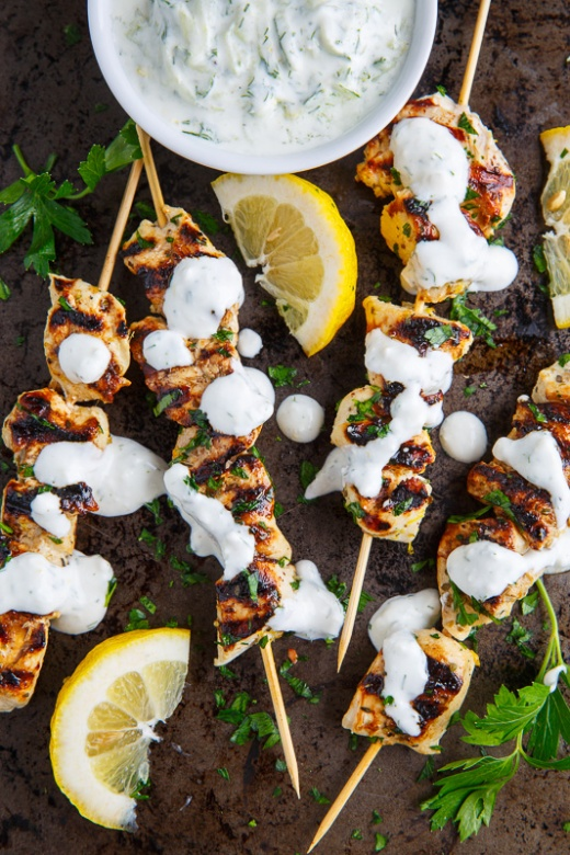 Grilled Chicken Souvlaki via Closet Cooking