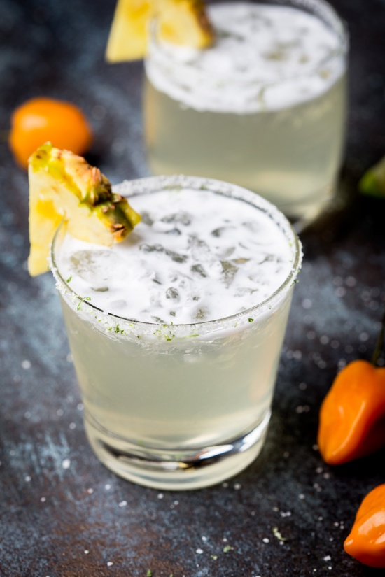 Habanero Pineapple Margarita via So Munch Love