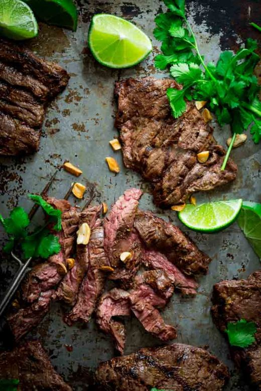 Thai Coconut Lime Skirt Steak via Healthy Seasonal Recipes