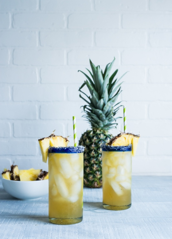 Vanilla Pineapple Margaritas via Pineapple and Coconut