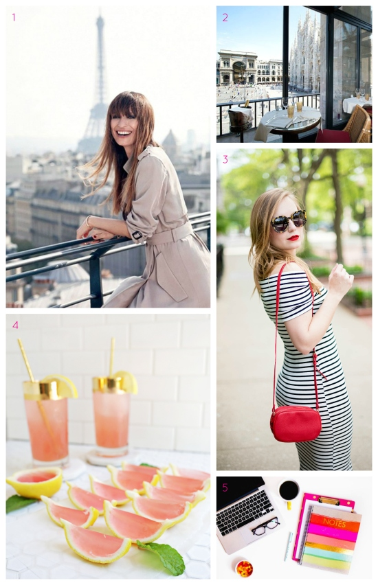 French girl beauty, the best museum restaurants, how to look expensive, lemonade jello shots, and how to make money online