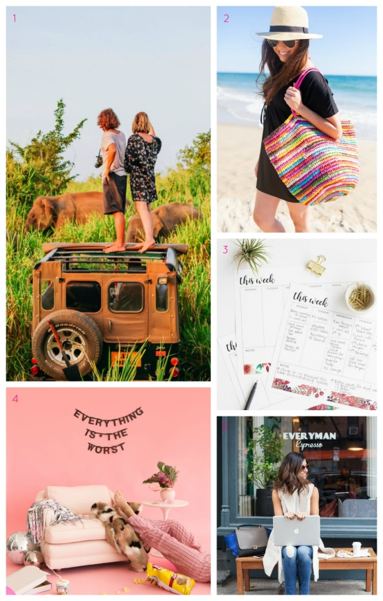 Why travel makes you a better person, summer skincare, how to throw a pity party, and more!