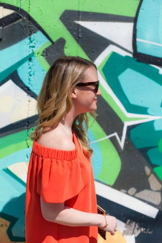 Off-the-shoulder top via Wit & Whimsy