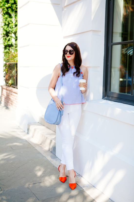 White jeans via Kendi Everyday