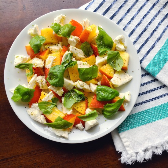 This is the ultimate summer salad - a twist on the classic caprese