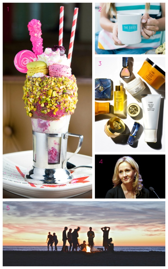 Insane milkshakes, Oribe's new beauty line, and all the things you're not doing this summer